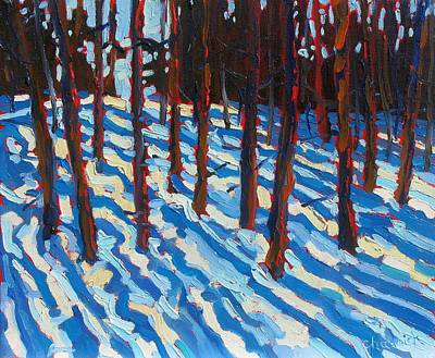 Watershed Painting - Filtered Light Trees by Phil Chadwick