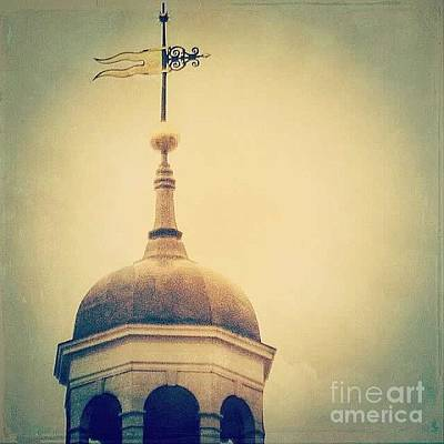 Gold Weathervane Photograph - Filtered Weathervane by Beth Williams