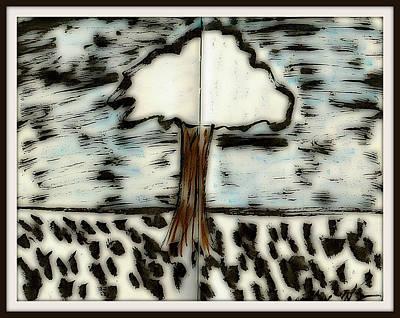 Drawing - Fun In Trees 4 by Mario Perron