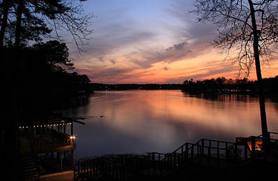 Fin Point Lake Jordan, Al Art Print