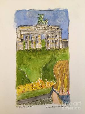 Painting - Fina At The Brandenburg Gate, Berlin by Barbara Anna Knauf