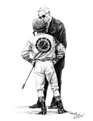 Jockey Painting - Final Advice by Thomas Allen Pauly