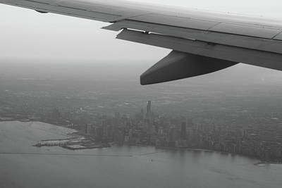 Transportation Royalty-Free and Rights-Managed Images - Final Approach Chicago B W by Steve Gadomski