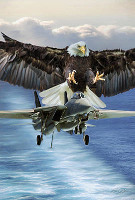 Storm Digital Art - Final Approach Of Freedom by Peter Chilelli