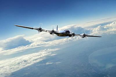 B-29 Digital Art - Final Approach  by Peter Chilelli