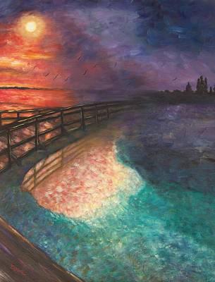 Linda King Painting -  Bridge To Finality by Linda King