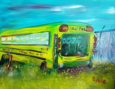 Painting - Final Bus Stop  by Steve Jorde