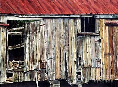 Abandoned Farm House Painting - Final Chapter by Anna-Maria Dickinson