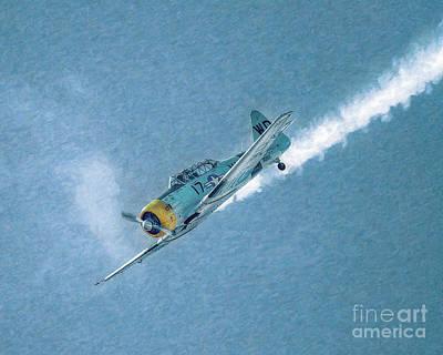 Final Dive World War Two Airplane  Art Print by Randy Steele