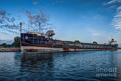 Final Mooring For The Algoma Transfer Art Print