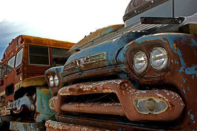 Old School Bus Photograph - Final Resting Place by Off The Beaten Path Photography - Andrew Alexander