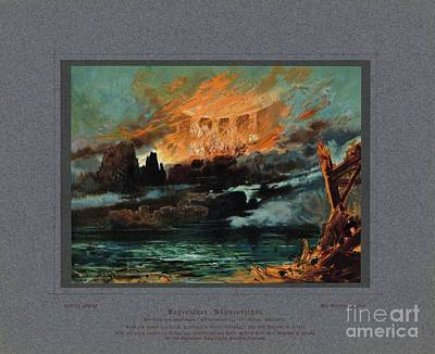 Wagner Painting - Final Scene Of Gotterdammerung by Celestial Images