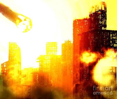 Destruction Mixed Media - Final Strike by Richard Rizzo