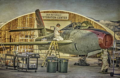 Photograph - F-84f Thunderstreak Final Touches  by Sandra Selle Rodriguez