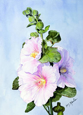 Painting - Finally Hollyhocks by Marsha Karle