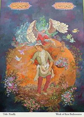 Painting - Finally by Reza Badrossama