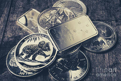 Coin Wall Art - Photograph - Finance And Commodities by Jorgo Photography - Wall Art Gallery