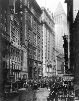 Photograph - Financial Center, C1920 by Granger