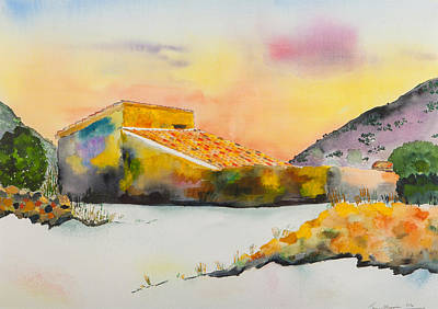 Painting - Finca In The Mountains  by Jenny anne Morrison