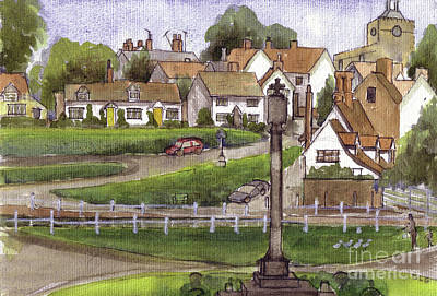 Painting - Finchingfield Essex Uk by Dianne Green