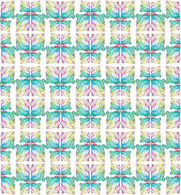 Find A Butterfly Pattern Art Print by Irina Sztukowski
