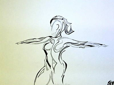 Woman Doing Yoga Painting - Finding Inner Peace #3  by Ronda Mosley
