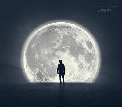 Luna Digital Art - Finding Peace by Kathy Chareun