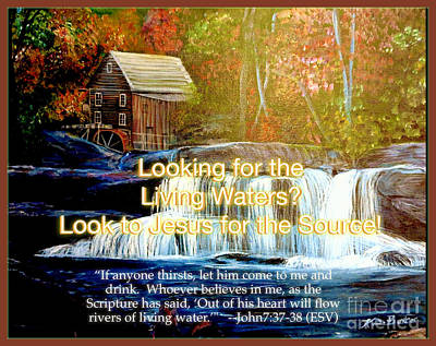 With Scripture Painting - Finding The Living Waters With Text by Kimberlee Baxter