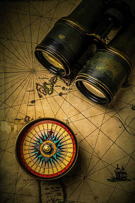 Antique Map Photograph - Finding Your Way by Garry Gay