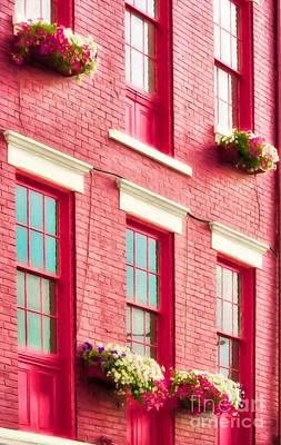 Photograph - Findlay Market Flowers And Windows by Mel Steinhauer
