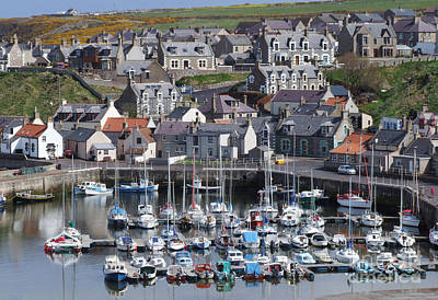 Photograph - Findochty Harbour - Scotland by Phil Banks