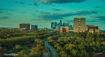 Fine Art America Pic 118 Houston Skyline Print by Darrell Taylor