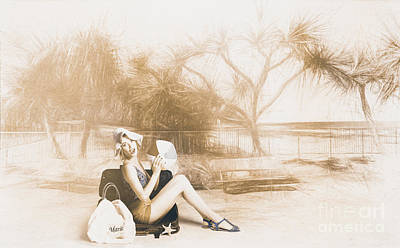Fine Art Beach Pinup Art Print by Jorgo Photography - Wall Art Gallery
