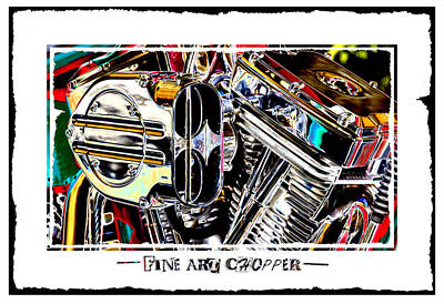 Pop Art Royalty-Free and Rights-Managed Images - Fine Art Chopper II by Mike McGlothlen