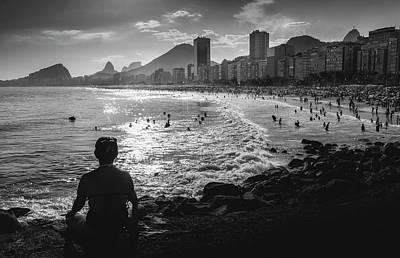 Fine Art Copacabana Rio De Janeiro, Brazil Art Print