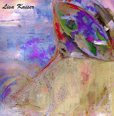 Digital Art - Fine Art Martini With Olive On The Beach Abstract Painting by Lisa Kaiser