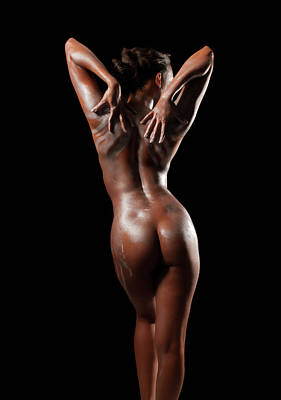 Photograph - Fine Art Nude Back Pose by James Hammond