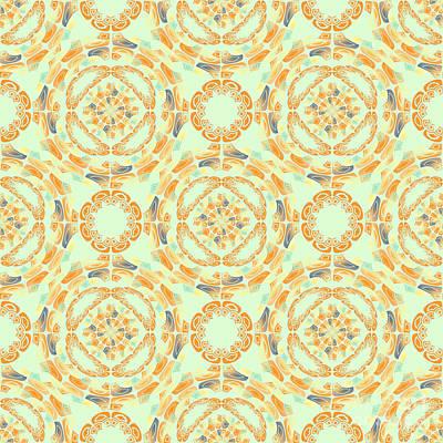 Algorithmic Digital Art - Fine Art Pattern by Gaspar Avila