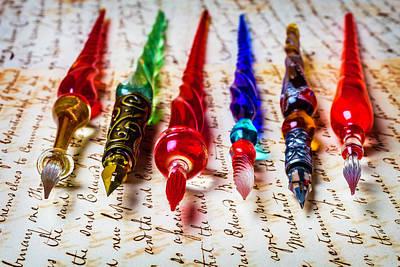 Fine Glass Pens Art Print