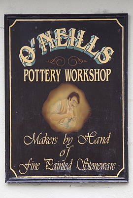 Fine Painted Stoneware - Pottery Sign Print by Christiane Schulze Art And Photography
