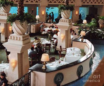 Photograph - Fine Restaurant With Atlantis Aquarium by Kay Novy