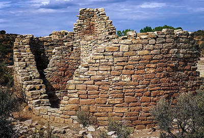 Photograph - Fine Rounded Stone Layup At Hovenweep National Monument by John Brink