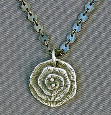 Sterling Silver Jewelry - Fine Silver Op-art Pendant by Mirinda Kossoff
