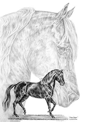 Equine Drawing Drawing - Fine Steps - Paso Fino Horse Print by Kelli Swan