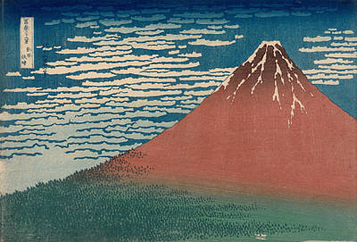 Painting - Fine Wind, Clear Weather Also Known As Red Fuji by Katsushika Hokusai
