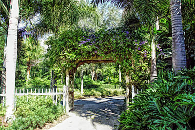 Photograph - Fine Wine Cafe Garden Walkway by Aimee L Maher Photography and Art Visit ALMGallerydotcom