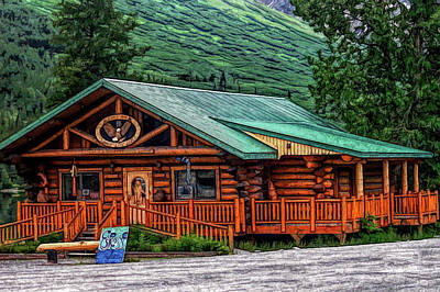 Photograph - Fine Wine Cafe Summit Lake Lodge Alaska 2 by Aimee L Maher ALM GALLERY