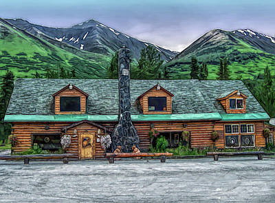 Photograph - Fine Wine Cafe Summit Lake Lodge Alaska by Aimee L Maher ALM GALLERY