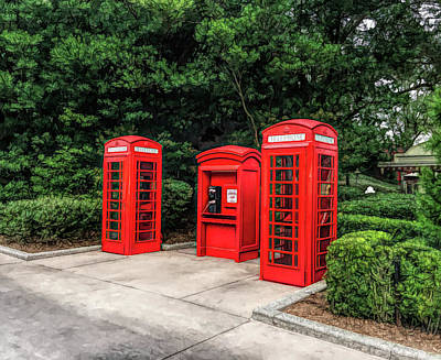 Photograph - Fine Wine Cafe Telephone Booths by Aimee L Maher Photography and Art Visit ALMGallerydotcom