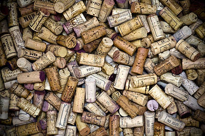 Food And Beverage Royalty-Free and Rights-Managed Images - Fine Wine Corks by Frank Tschakert